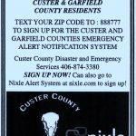 Attention: Custer & Garfield County Residents