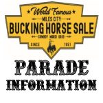 Bucking Horse Sale Parade Information