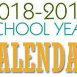 2018-19 School Year Calendars